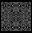 black and white bandana print vector image vector image