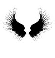black grunge wings two vector image vector image