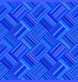 blue geometric diagonal striped square mosaic vector image vector image