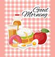breakfast brunch banner concept vector image vector image