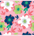 bright abstract flower seamless pattern vector image