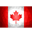 canada flag polygon abstract vector image
