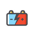 car battery accumulator car electricity vector image