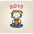 cartoon happy people meditation vector image vector image