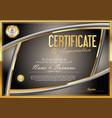 certificate retro design template 08 vector image vector image