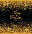 christmas decorative background made golden vector image vector image