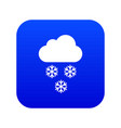 cloud and snowflakes icon digital blue vector image