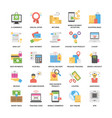 colorful flat icons set of shopping and commerce vector image vector image