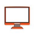 computer monitor with blank screen icon image vector image vector image