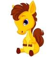 Cute baby horse cartoon vector image vector image