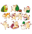 Cute kawaii bull new year character symbol icon se