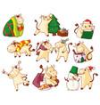 cute kawaii bull new year character symbol icon vector image