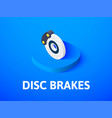 disc brakes isometric icon isolated on color vector image
