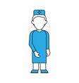 doctor with gown faceless avatar vector image