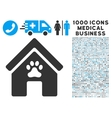 Doghouse Icon with 1000 Medical Business Symbols vector image vector image