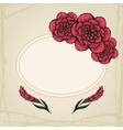 Doodling greeting card with flowers in tattoo vector image vector image