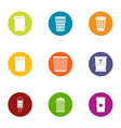 dust icons set flat style vector image vector image