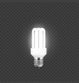 electricity and single tube lamp light up and vector image vector image