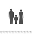 Family silhouette Man woman and kid vector image