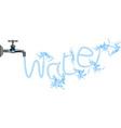 Faucet tap water plumbing vector image
