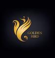 golden phoenix bird brand animal logo luxury vector image vector image