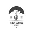golf school logotype vector image vector image