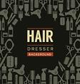Hair Dresser Background vector image