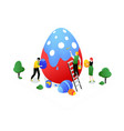 happy easter - modern colorful isometric vector image vector image