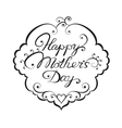 Happy mother day lettering vector image vector image