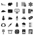 home furnishing icons set simple style vector image vector image