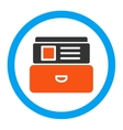 Index Box Rounded Icon vector image vector image