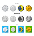 isolated object sport and ball sign set of vector image vector image