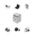 isometric cabinet set of garbage container office vector image vector image