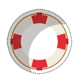 life guard float isolated icon vector image vector image