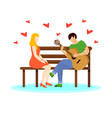 love couple concept vector image vector image