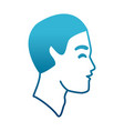man silhouette head vector image vector image