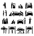 Mechanic Icons Black vector image vector image