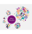 Merry Christmas colorful postcard vector image vector image
