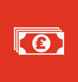 money icon pound sterling and cash coin vector image vector image
