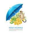 money under umbrella vector image vector image