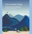 mountain landscape with fir trees vector image vector image