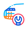 plane fix wrench icon outline vector image vector image