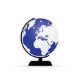 planet globe color vector image vector image