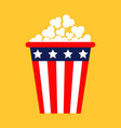 popcorn icon cinema icon in flat design style vector image vector image