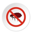 Prohibition sign fleas icon flat style vector image vector image