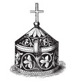 pyx is a small used in the catholic church vector image vector image
