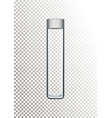 realistic glass bottle for vector image vector image
