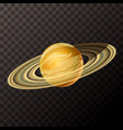 realistic saturn with texture colorful planet on vector image vector image