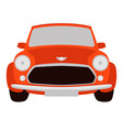 red classic car vector image
