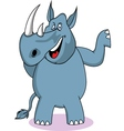 rhino cartoon vector image